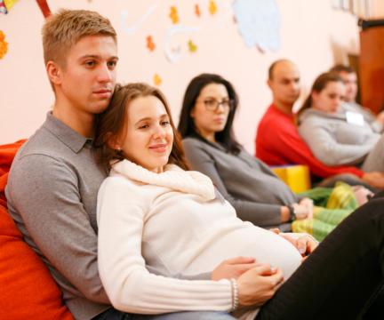 "Начало апреля – Занятия для беременных – комплексный курс для пар ""Семейный"""