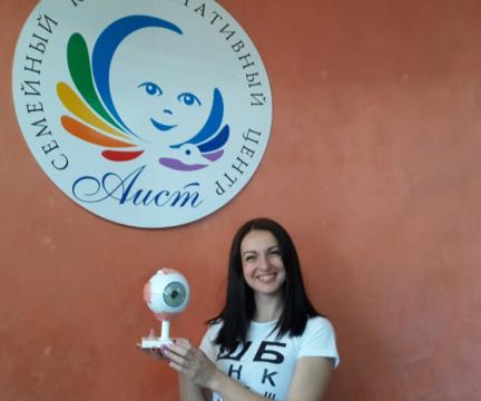 Врач-офтальмолог 1-ой категории и наша аистиная Анастасия Мурахтанова