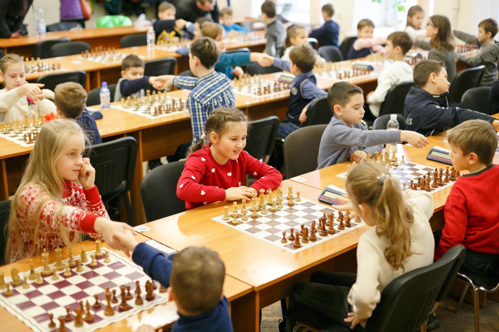 Юные шахматисты Аиста участвовали в городском шахматном турнире